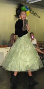 Bohemia and ODP Fall Fashion Show Green Dress
