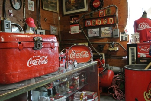 If you like old Coca Cola advertising, there is a whole room dedicated to it here.