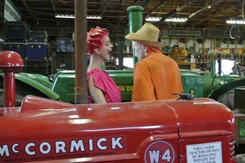 Along with actual vintage cars and tractors, you can find the odd mannequin as well...wonder if this was Granny and Grumpa back in the day?