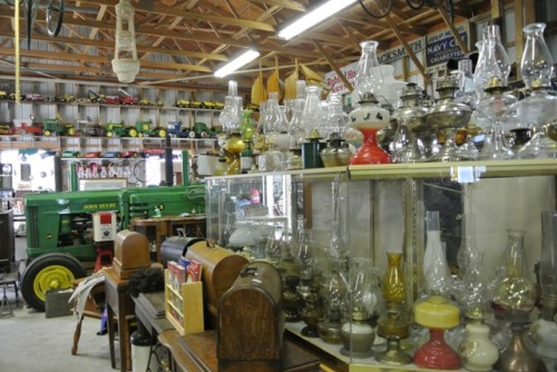 Huge selection of glass oil lamps and so much more.