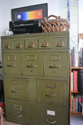 Green Filing Cabinet