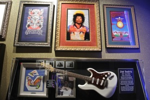 Jimi Hendrix Display at the Hard Rock